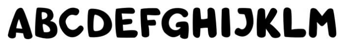 Comic SCF Round Font UPPERCASE