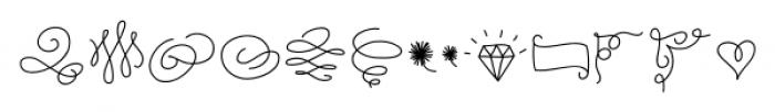 Coming Home Dingbats Medium Font LOWERCASE