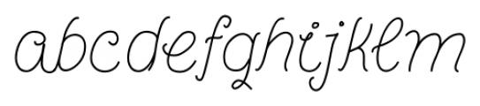 Coming Home Medium Font LOWERCASE