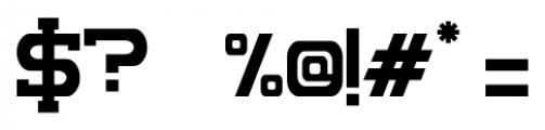 Complex Regular Font OTHER CHARS