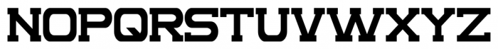 Complex Regular Font UPPERCASE
