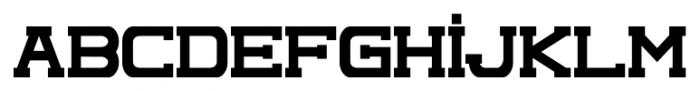 Complex Regular Font LOWERCASE