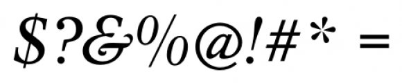 Concept Italic Font OTHER CHARS