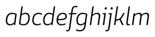 Conflict Light Italic Font LOWERCASE