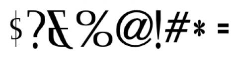 Consonant SRF Regular Font OTHER CHARS
