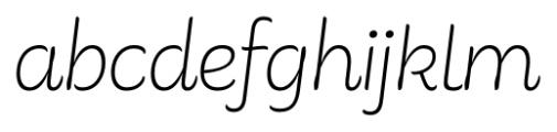 Consuelo Italic Font LOWERCASE
