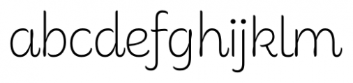Consuelo Regular Font LOWERCASE