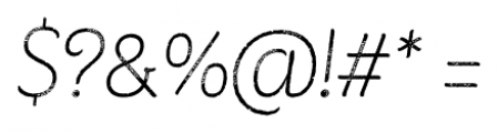 Consuelo Rough Italic Font OTHER CHARS