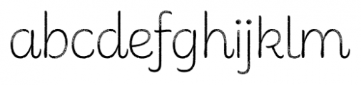 Consuelo Rough Font LOWERCASE