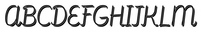 Consuelo Shadow Italic Font UPPERCASE