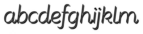 Consuelo Shadow Italic Font LOWERCASE