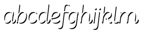 Consuelo Shadow Two Italic Font LOWERCASE