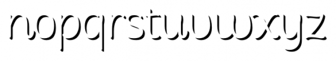 Consuelo Shadow Two Font LOWERCASE