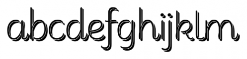 Consuelo Shadow Font LOWERCASE