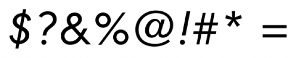 Contax Pro 56 Italic Font OTHER CHARS