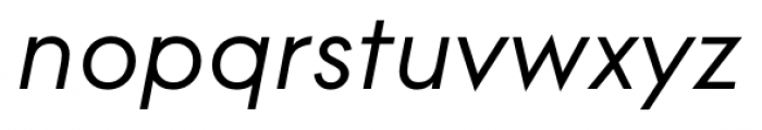 Contax Pro 56 Italic Font LOWERCASE