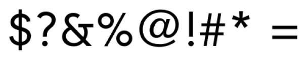 Contax Regular Font OTHER CHARS