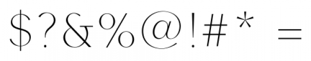Contax Sans 25 UltraThin Font OTHER CHARS