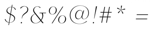 Contax Sans 26 UltraThin Italic Font OTHER CHARS