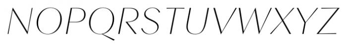 Contax Sans 26 UltraThin Italic Font UPPERCASE