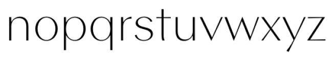 Contax Sans 35 Thin Font LOWERCASE