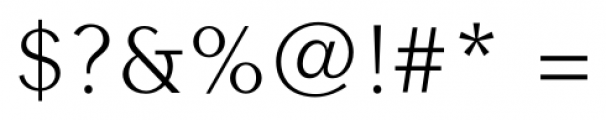 Contax Sans 45 Light Font OTHER CHARS