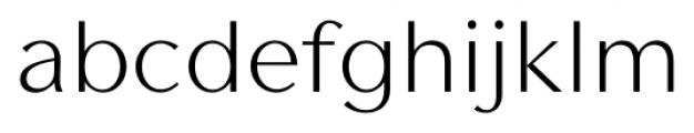 Contax Sans 45 Light Font LOWERCASE