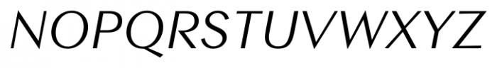Contax Sans 56 Italic Font UPPERCASE