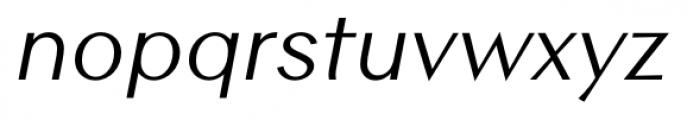 Contax Sans 56 Italic Font LOWERCASE