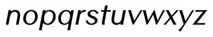 Contax Sans 66 Medium Italic Font LOWERCASE