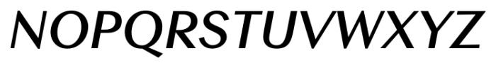 Contax Sans 76 Bold Italic Font UPPERCASE