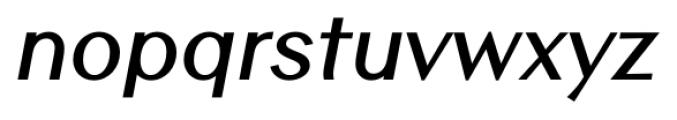 Contax Sans 76 Bold Italic Font LOWERCASE
