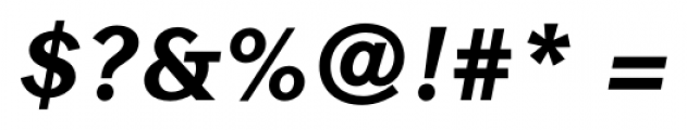 Contax Sans 86 Black Italic Font OTHER CHARS