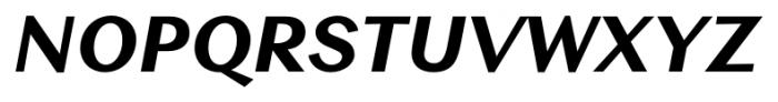 Contax Sans 86 Black Italic Font UPPERCASE