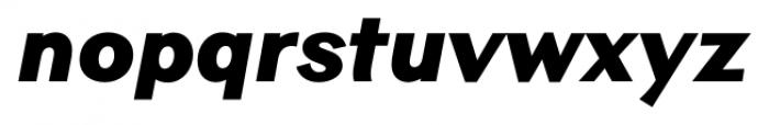 Contax Sans 96 UltraBlack Ita Font LOWERCASE