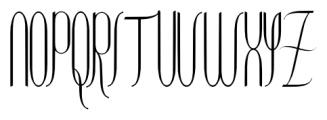 Contouration Regular Font UPPERCASE