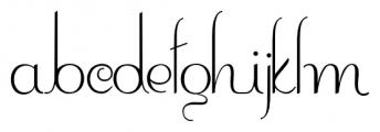 Contouration Regular Font LOWERCASE