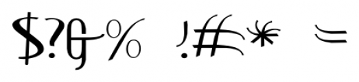 ContourationExpanded Regular Font OTHER CHARS
