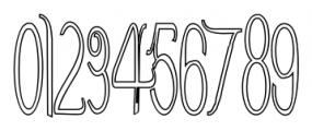 ContourationOutline Regular Font OTHER CHARS