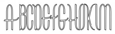 ContourationOutline Regular Font UPPERCASE