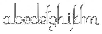 ContourationOutline Regular Font LOWERCASE