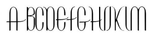 ContourationRedux Regular Font UPPERCASE