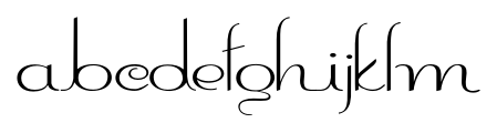 ContourationRedux Regular Font LOWERCASE