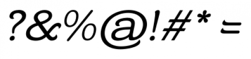Contra Flare Book Italic Font OTHER CHARS