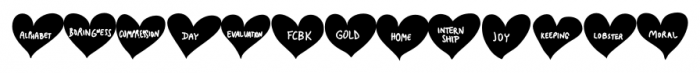 Conversation Hearts Sweethearts Font LOWERCASE