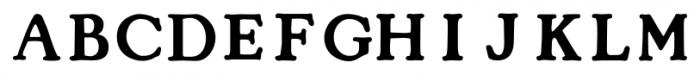 Cooper Capitals Medium Font UPPERCASE