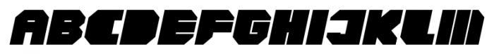 CorTen Closed Fat Italic Font UPPERCASE