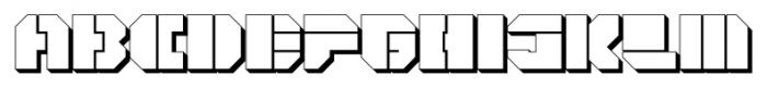 CorTen Open Fat Extruded Font UPPERCASE