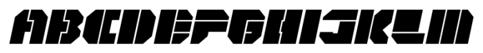 CorTen Open Fat Italic Font UPPERCASE
