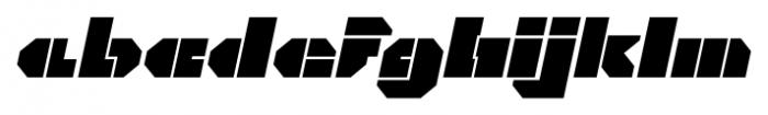 CorTen Open Fat Italic Font LOWERCASE